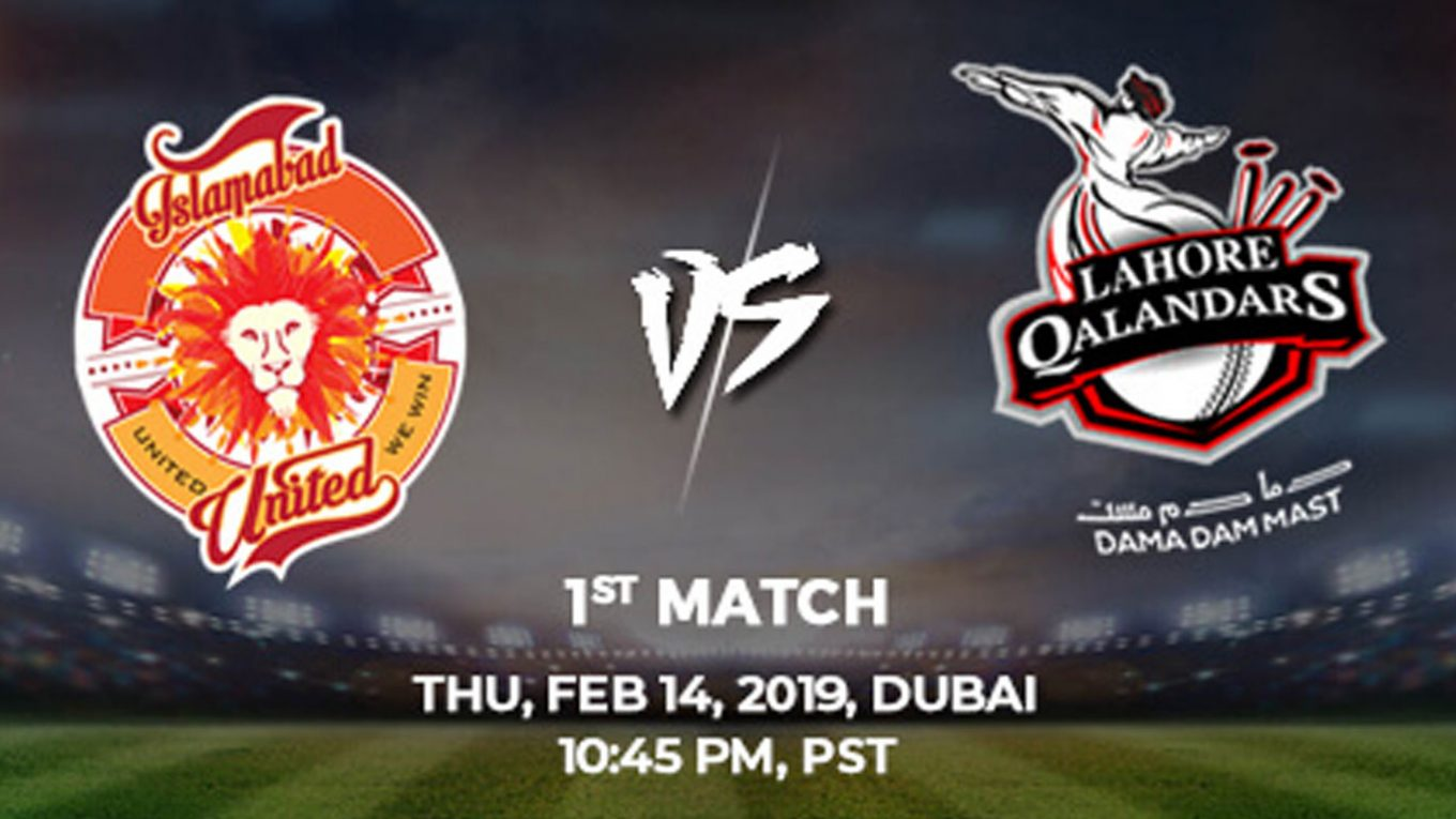 1st Match, Islamabad United vs Lahore Qalandars, Today Match Prediction