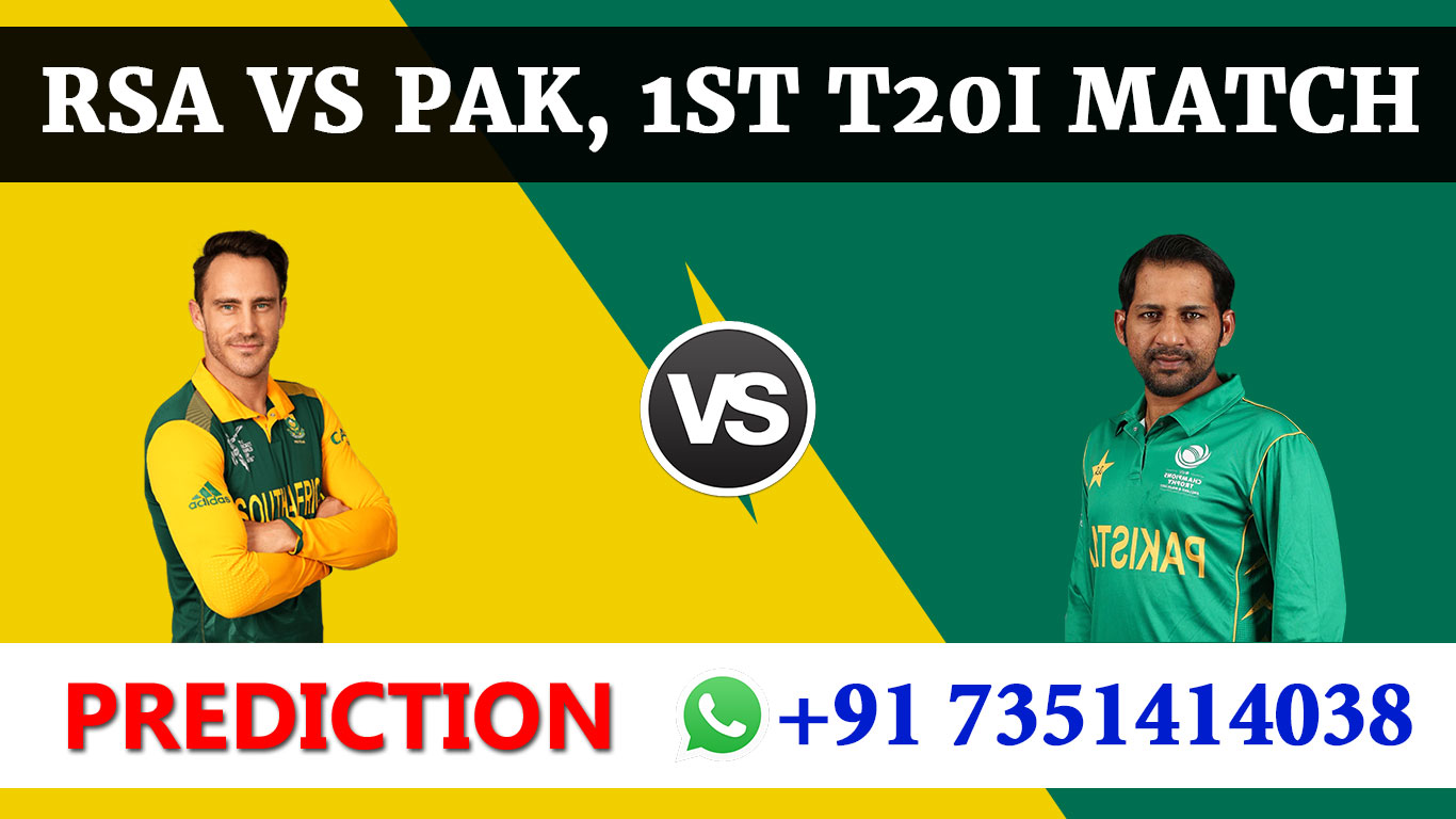 1st T20 Match, South Africa vs Pakistan, Today Match Prediction