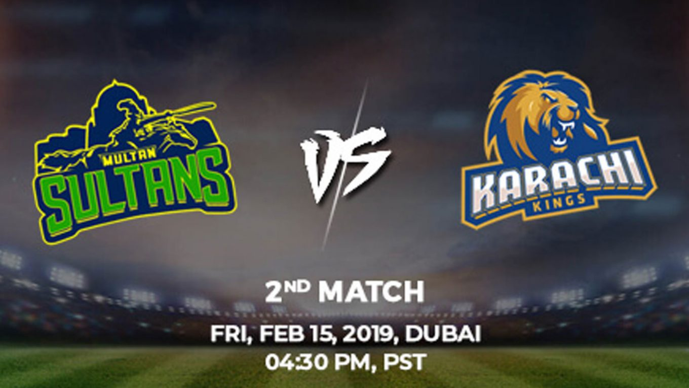 2nd Match, Karachi Kings vs Multan Sultans, Today Match Prediction