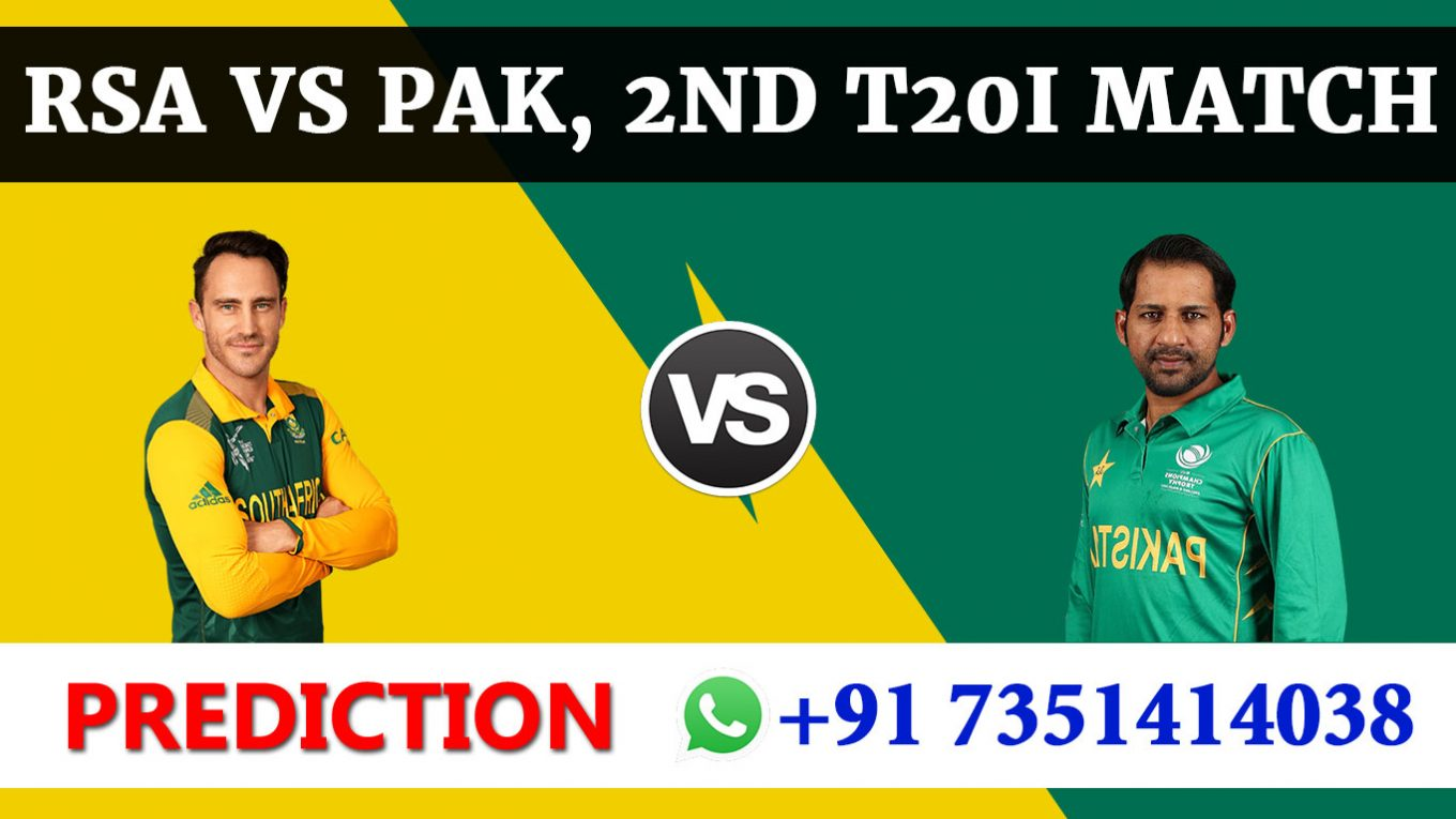 2nd T20 Match, South Africa vs Pakistan, Today Match Prediction