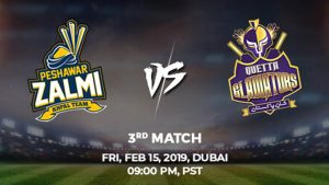 3rd Match, Peshawar Zalmi vs Quetta Gladiators, Today Match Prediction