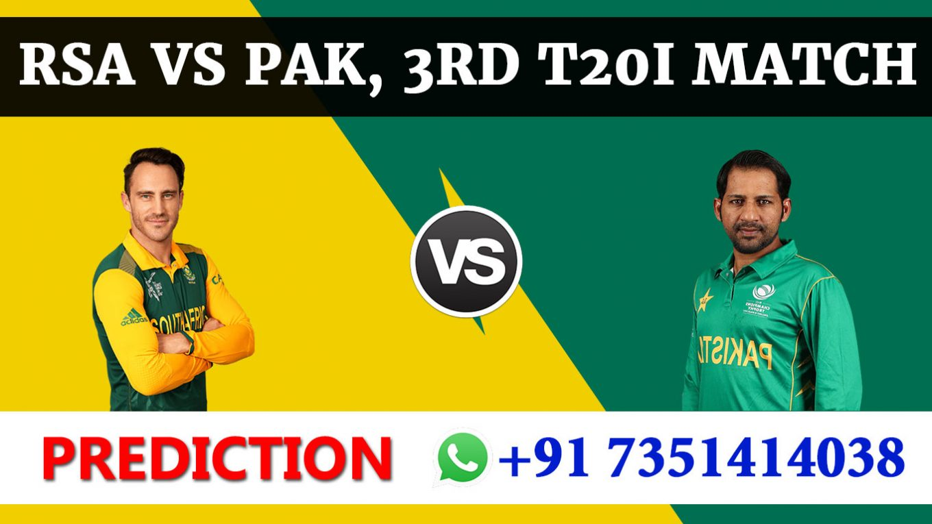 3rd T20 Match, South Africa vs Pakistan, Today Match Prediction