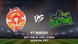 4th Match, Islamabad United vs Multan Sultans, Today Match Prediction