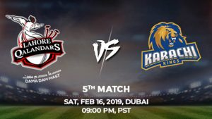 5th Match, Lahore Qalandars vs Karachi Kings, Today Match Prediction