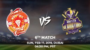 6th Match, Islamabad United vs Quetta Gladiators, Today Match Prediction