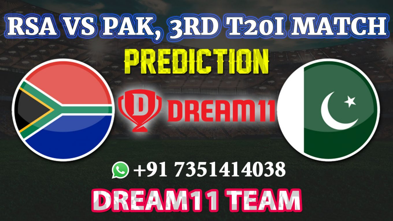 PAK vs SA 3rd T20 Match Dream11 Fantasy Cricket teamPAK vs SA 3rd T20 Match Dream11 Fantasy Cricket team