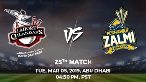 25th Match, Lahore Qalandars vs Peshawar Zalmi, Today Match Prediction