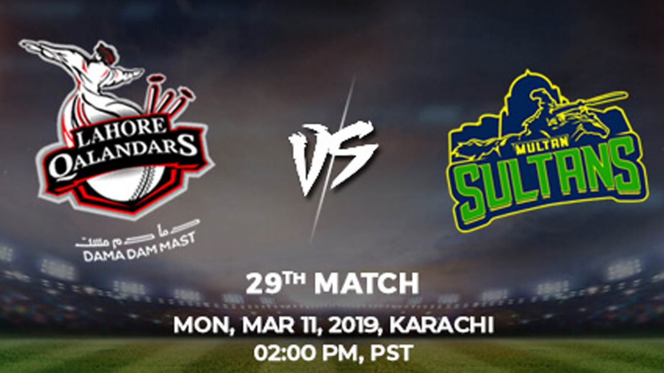 29th Match, Lahore Qalandars vs Multan Sultans, Today Match Prediction