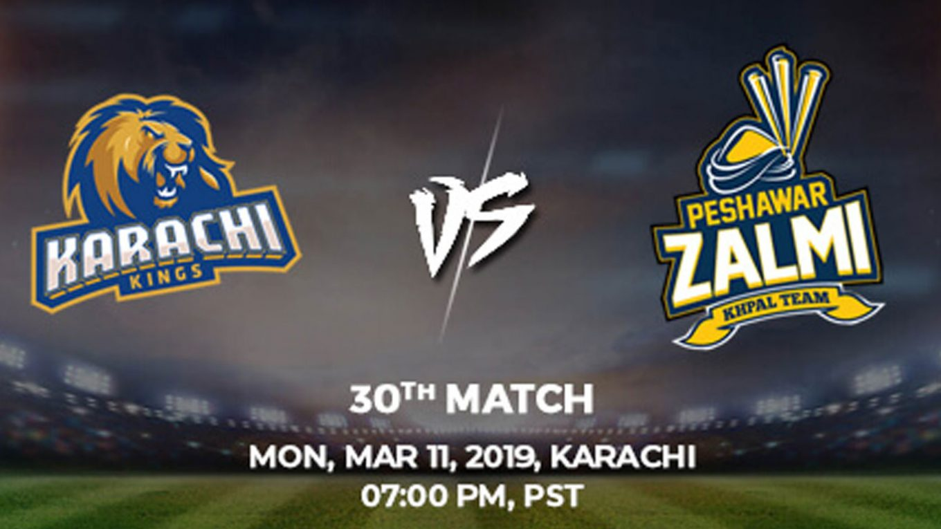 30th Match, Karachi Kings vs Peshawar Zalmi, Today Match Prediction