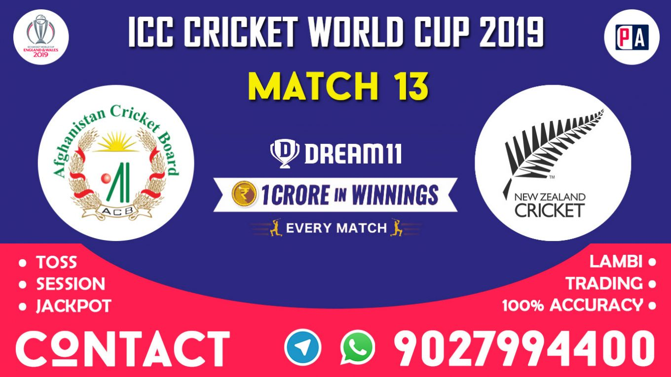Match 13th, AFG vs NZ, Dream11 Team Prediction