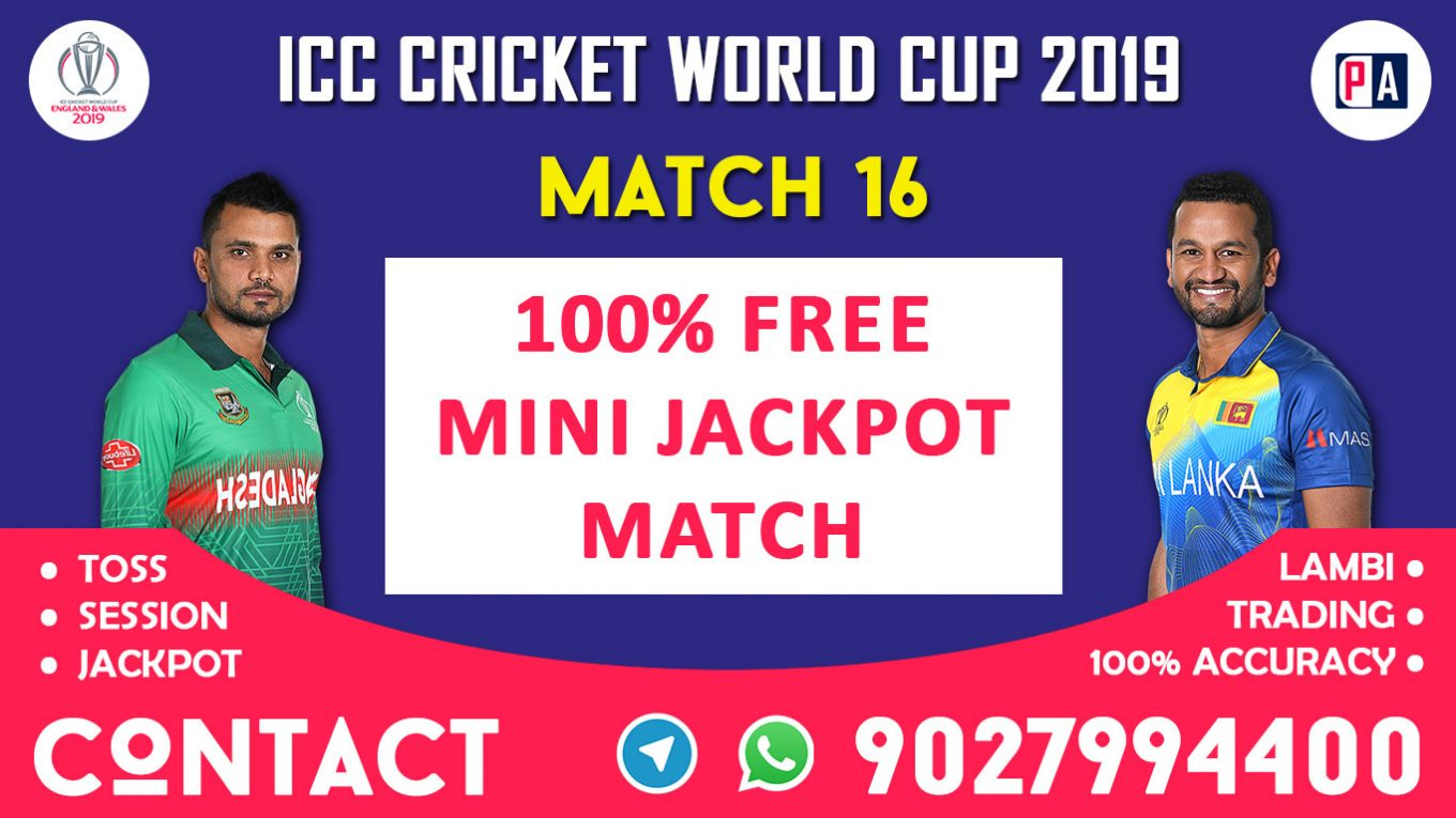 Match 16th, BAN vs SL, Today Match Prediction