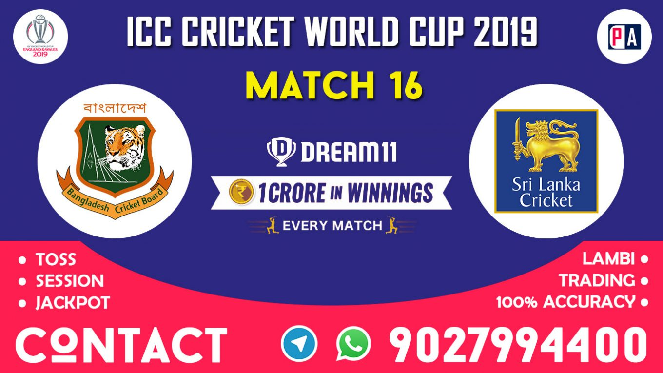 Match 16th, BAN vs SL, Dream11 Team Prediction