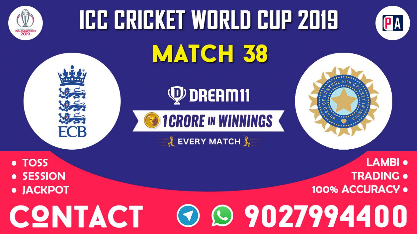 Match 38th, ENG vs IND, Dream11 Team Prediction