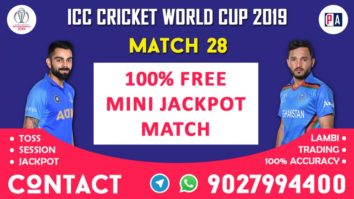 Match 28th, IND vs AFG, Today Match Prediction