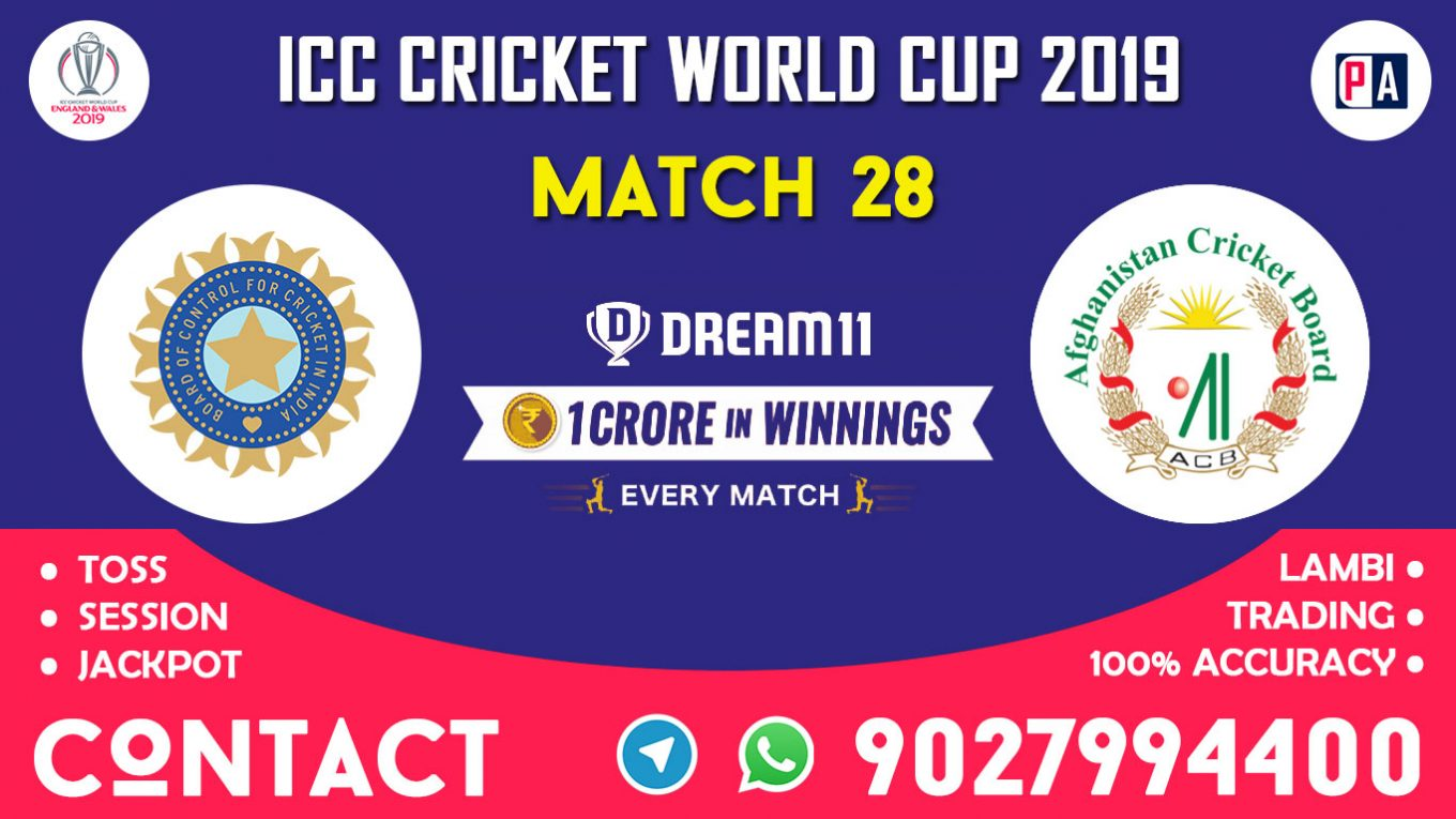 Match 28th, IND vs AFG, Dream11 Team Prediction