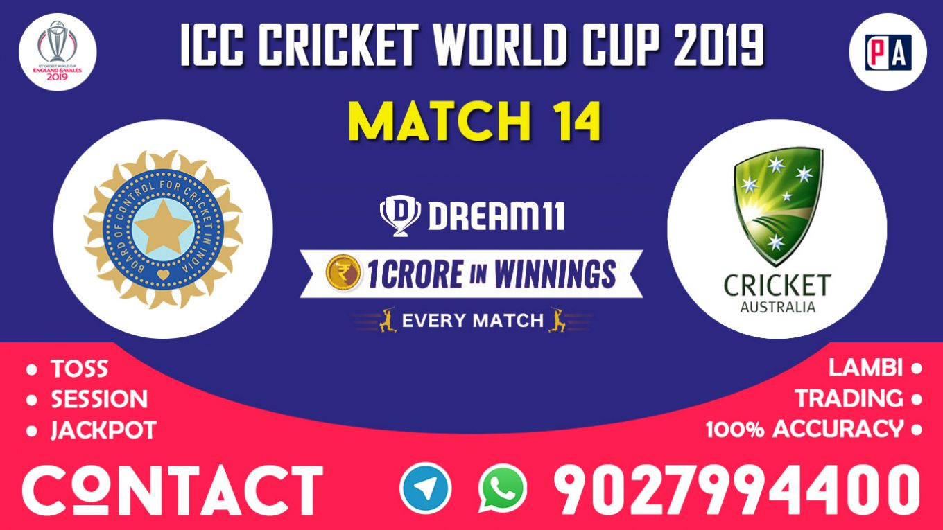 Match 14th, IND vs AUS, Dream11 Team Prediction