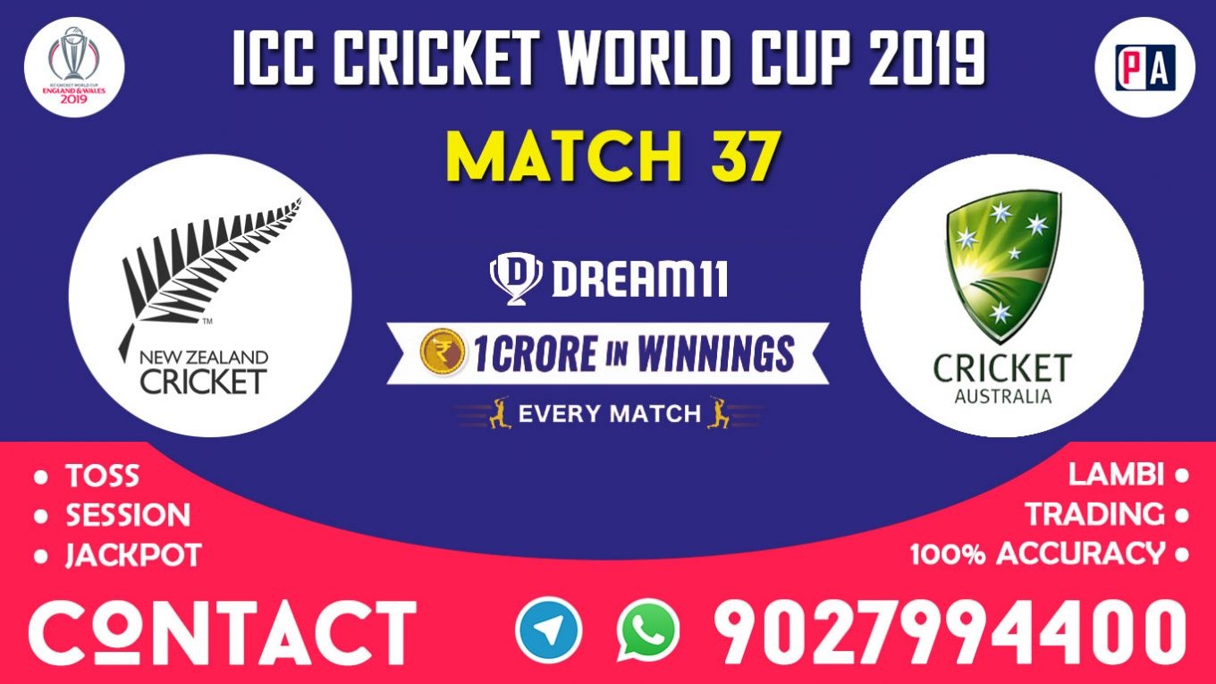 Match 37th, NZ vs AUS, Dream11 Team Prediction
