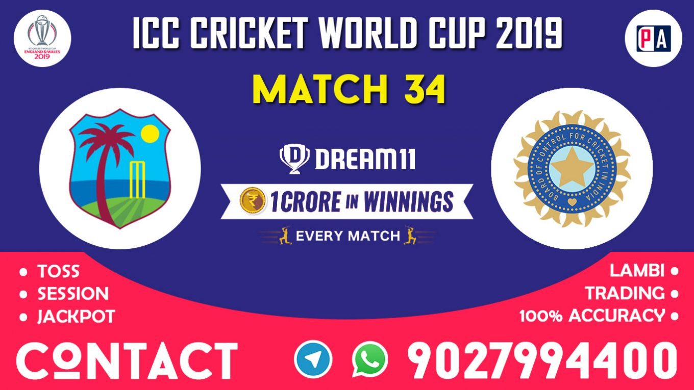 Match 34th, WI vs IND, Dream11 Team Prediction