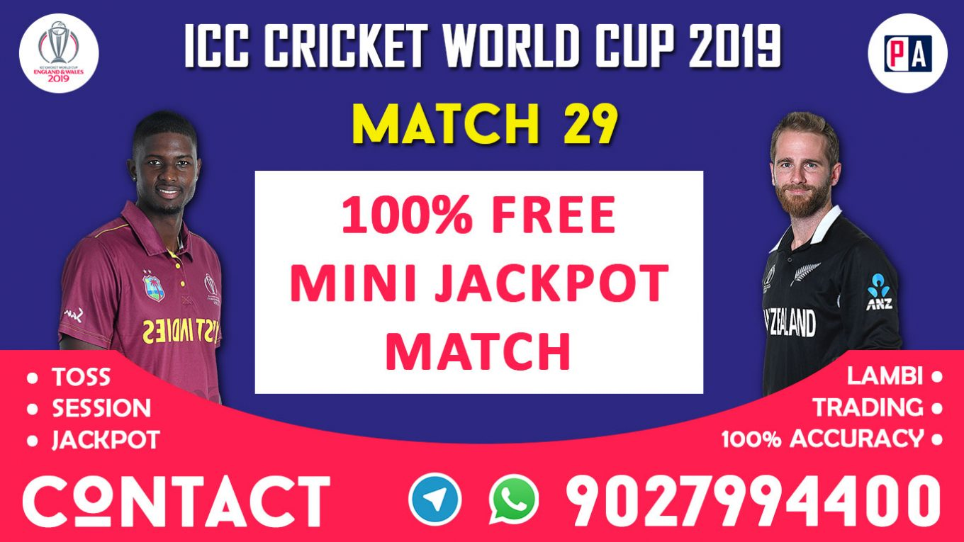 Match 29th, WI vs NZ, Today Match Prediction