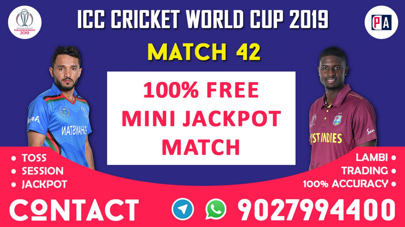 Match 42nd, AFG vs WI, Today Match Prediction