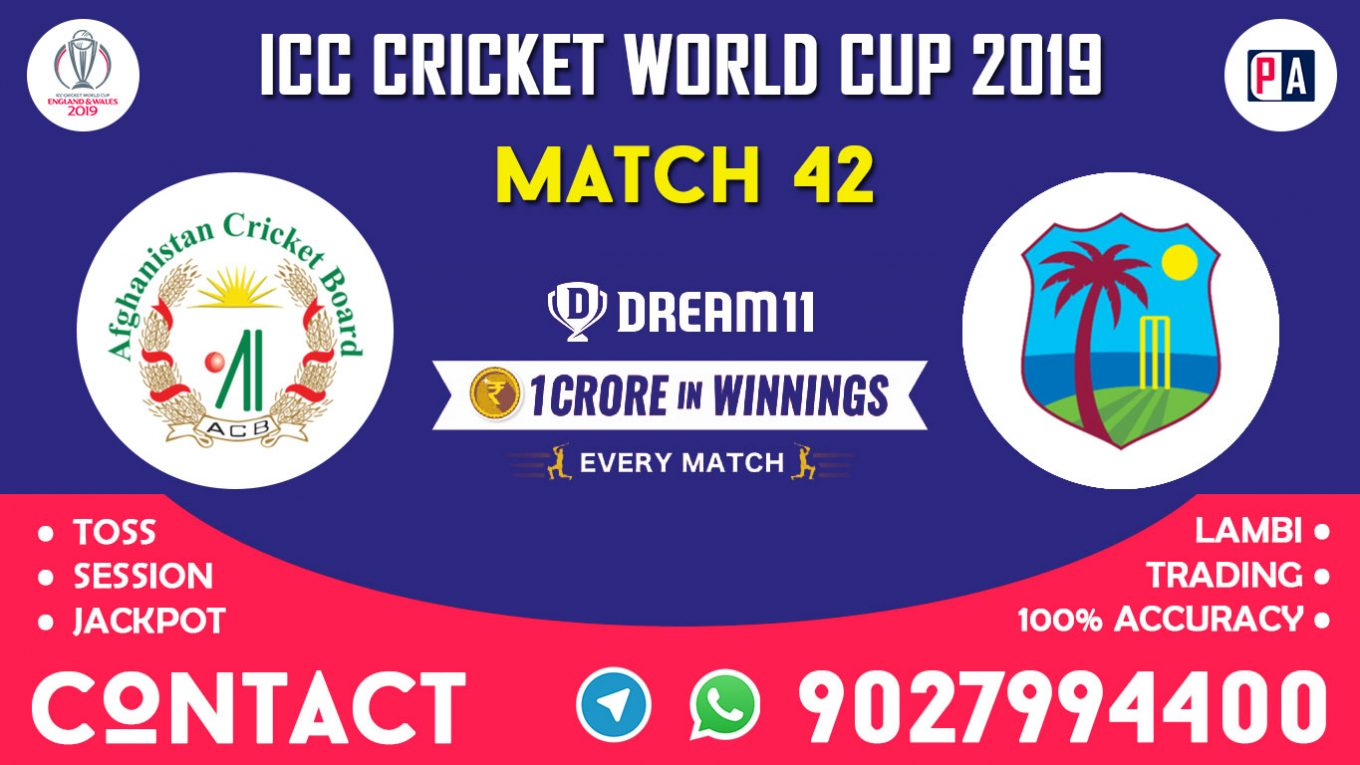 Match 42nd, AFG vs WI, Dream11 Team Prediction