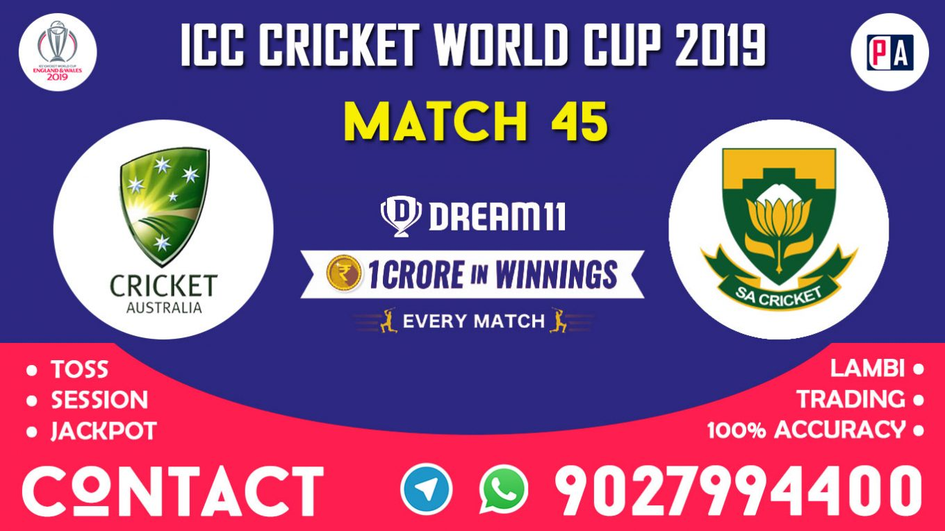 Match 45th, AUS vs RSA, Dream11 Team Prediction
