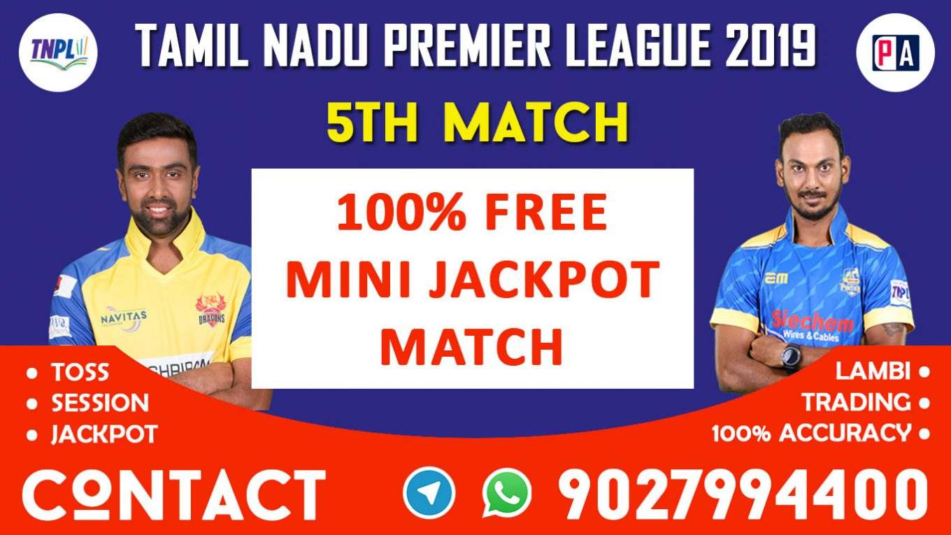 5th Match, DGD vs MADURAI, Today Match Prediction