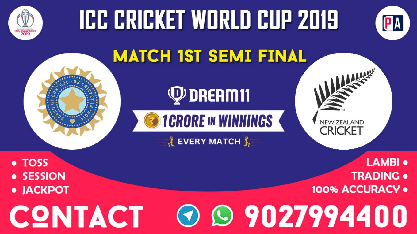 Match 1st Semi-Final, IND vs NZ, Dream11 Team Prediction