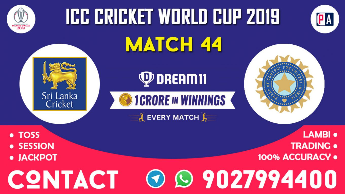 Match 44th, SL vs IND, Dream11 Team Prediction