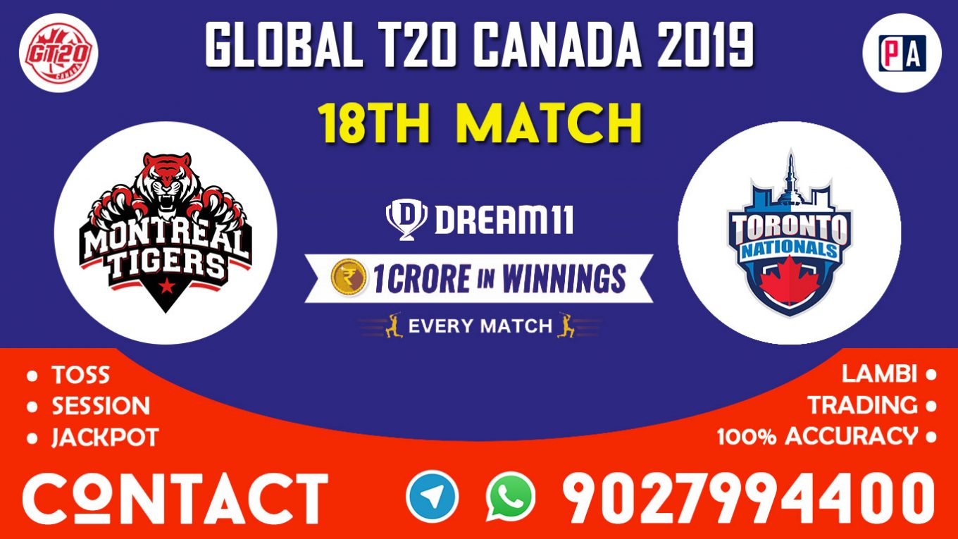18th Match, MON vs TOR, Dream11 Team Prediction