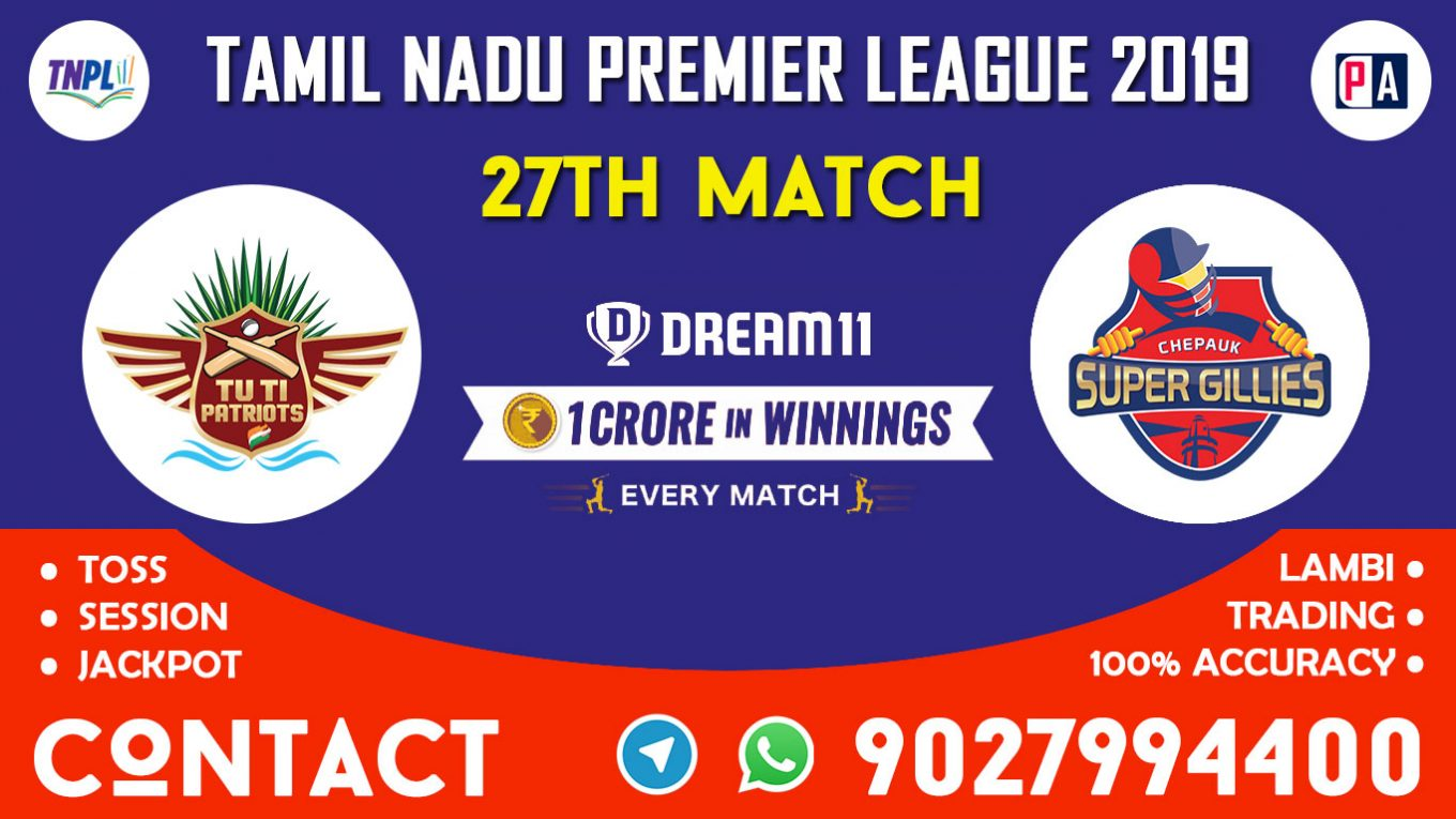 27th Match, CHE vs TUT, Dream11 Team Prediction