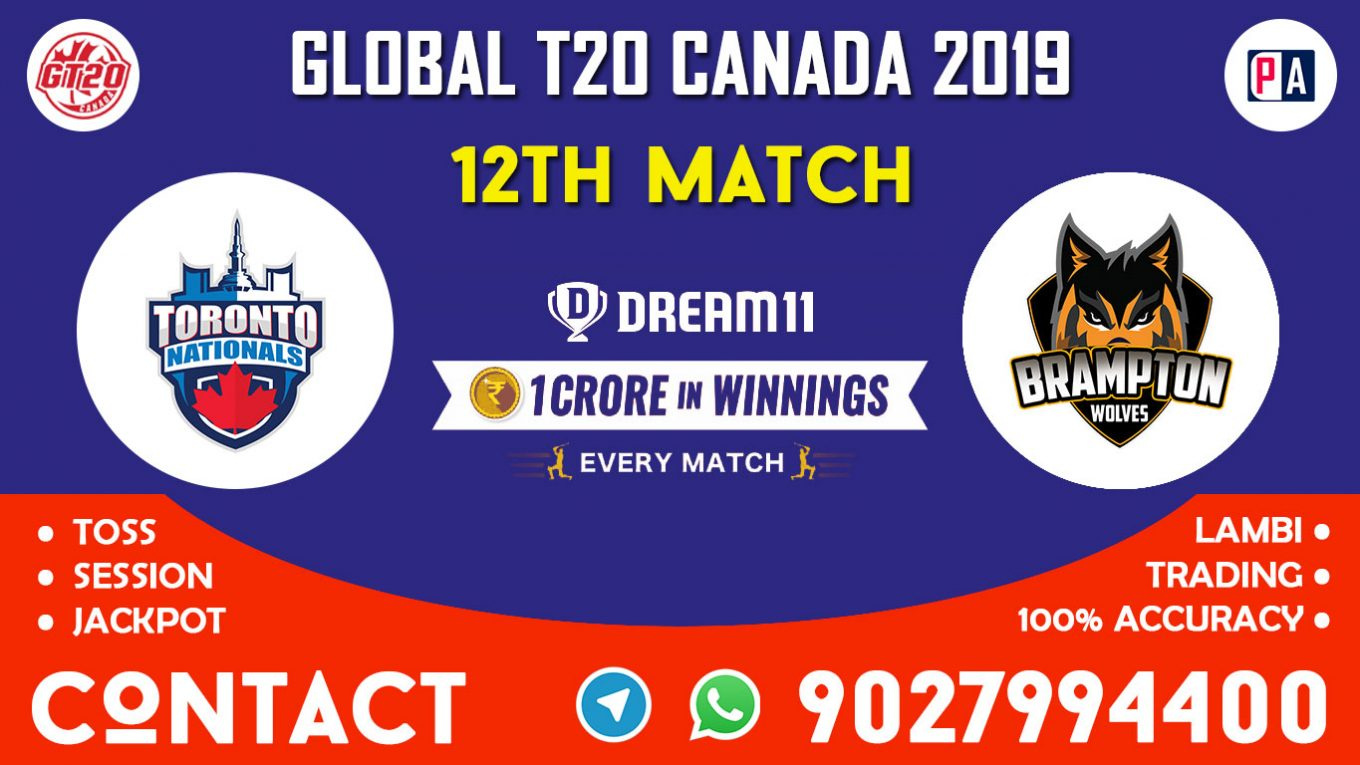 12th Match, TOR vs BRW, Dream11 Team Prediction
