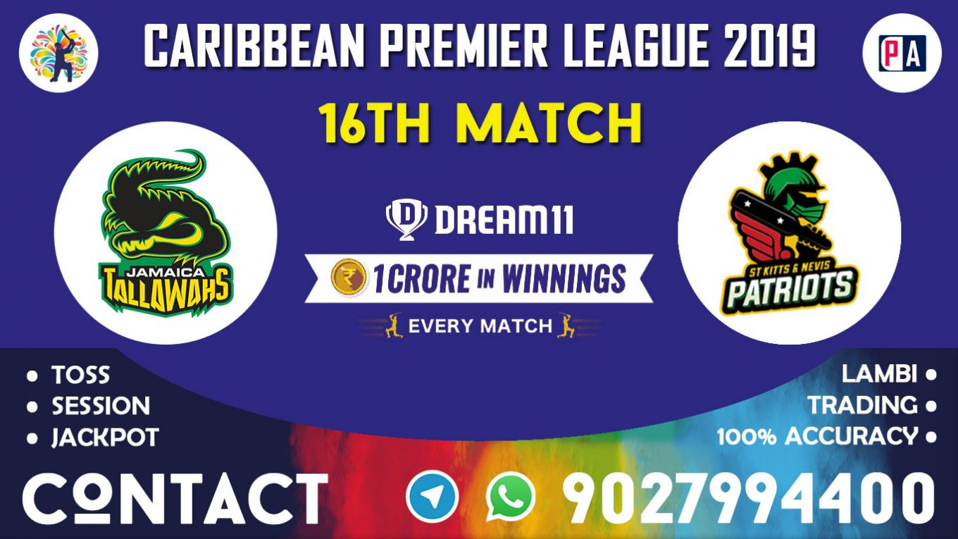 16th Match, JT vs SNP, Dream11 Team Prediction