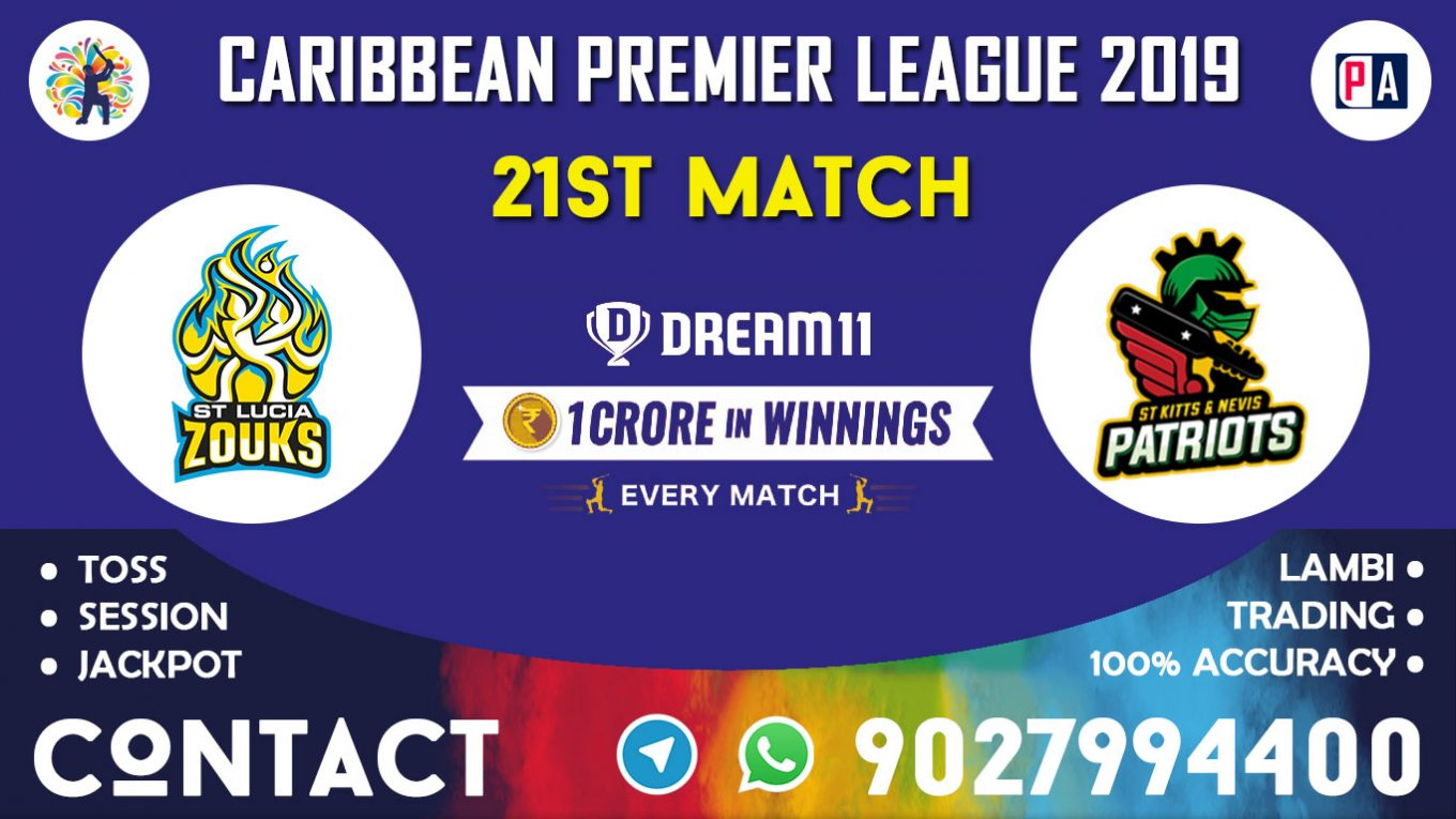21st Match, STZ vs SNP, Dream11 Team Prediction