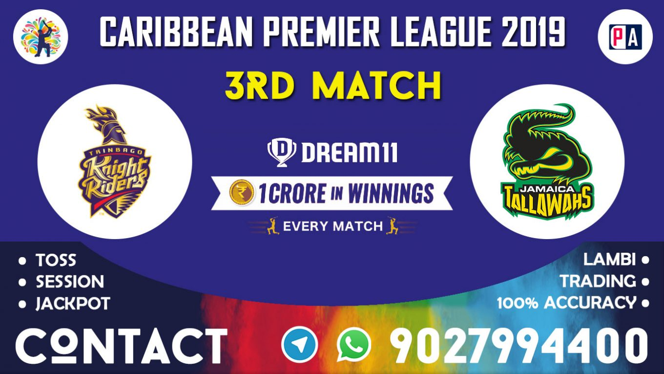 3rd Match, TKR vs JT, Dream11 Team Prediction