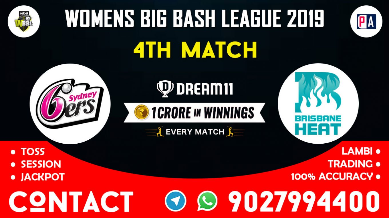 4th Match, SYSW vs BRHW, Dream11 Team Prediction