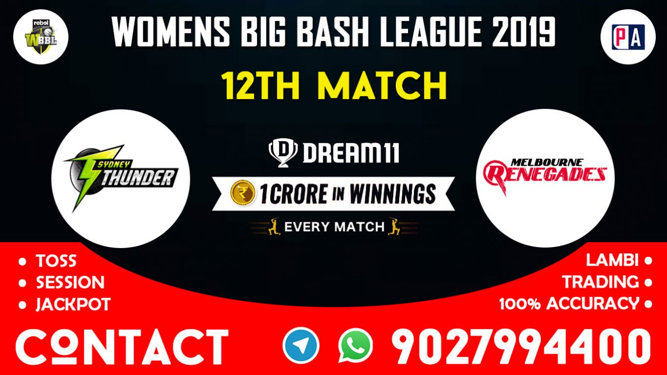 12th Match, SYTW vs MLRW, Dream11 Team Prediction