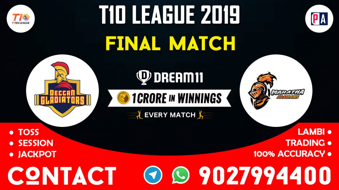 Final Match MA vs DEG, Dream11 Team Prediction