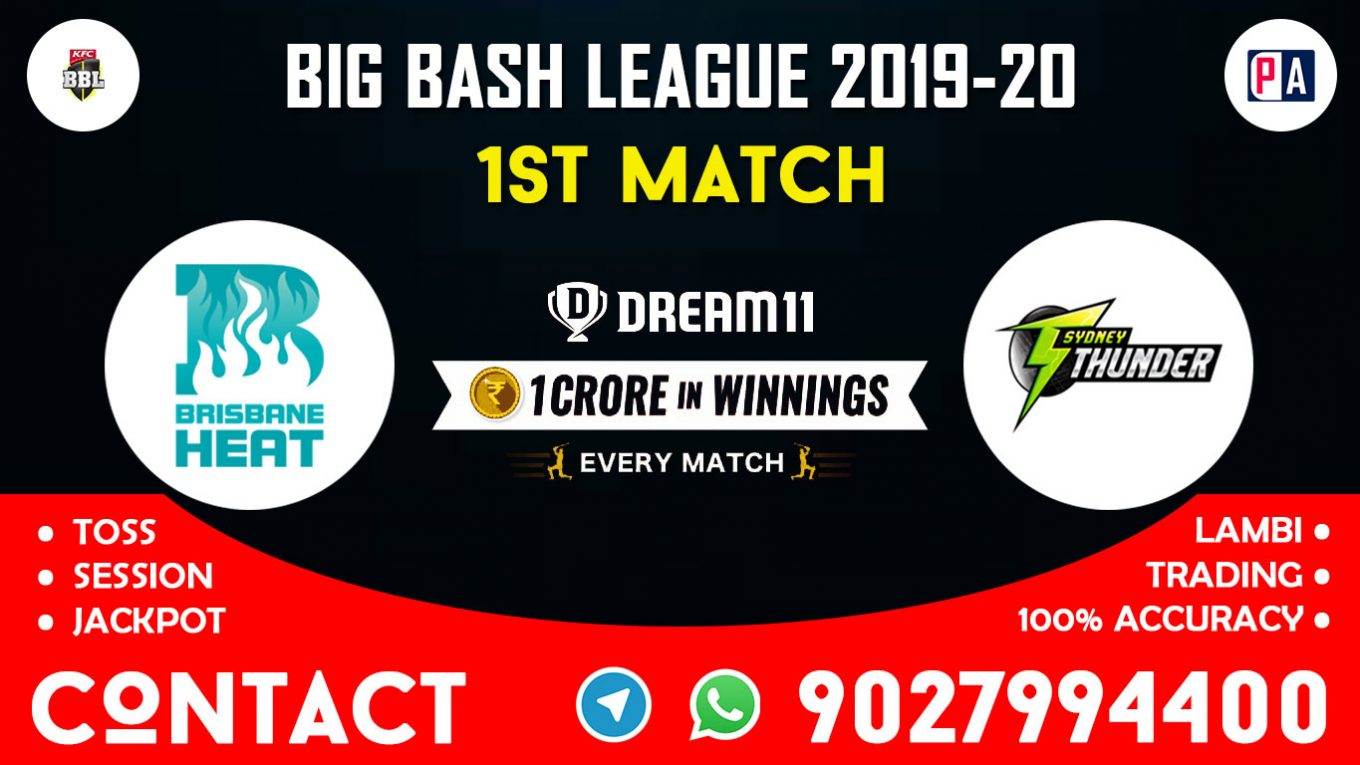 1st Match BRH vs SYT, Dream11 Team Prediction