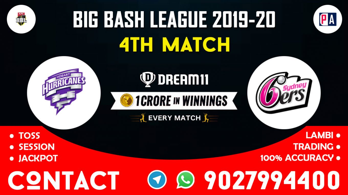 4th Match HBH vs SYS, Dream11 Team Prediction