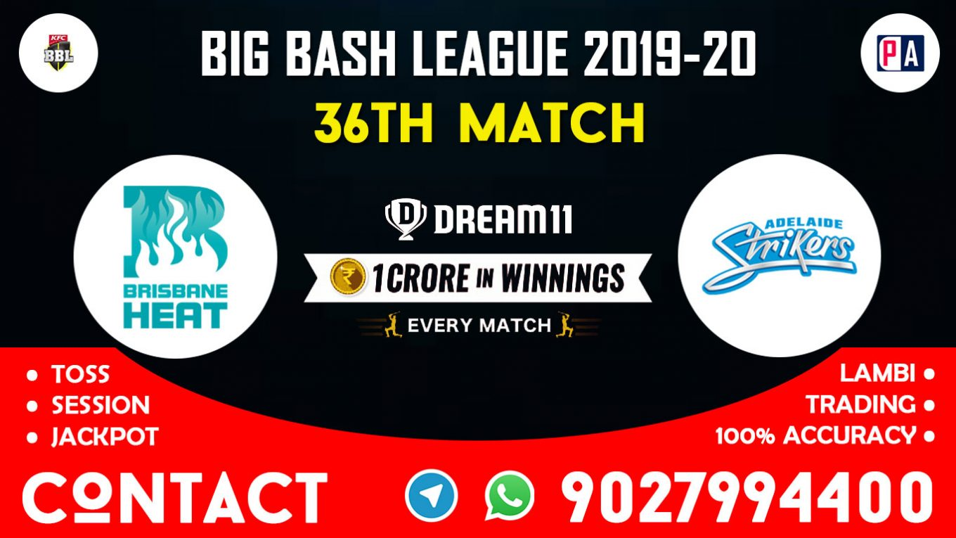 36th Match, HEA vs STR, Dream11 Team Prediction