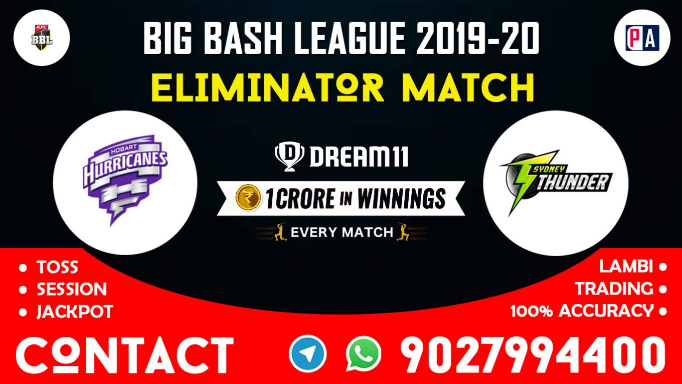 Eliminator Match, HUR vs THU, Dream11 Team Prediction