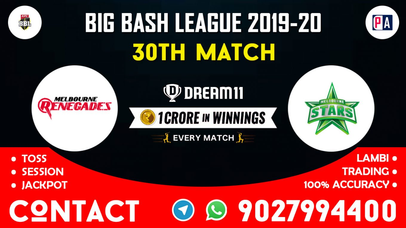 30th Match, REN vs STA, Dream11 Team Prediction