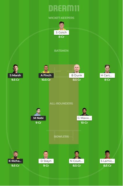 REN vs STA dream11 team