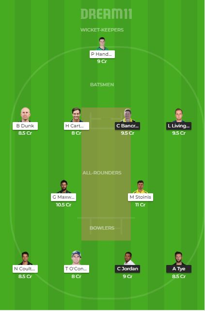 SCO vs STA dream11 team