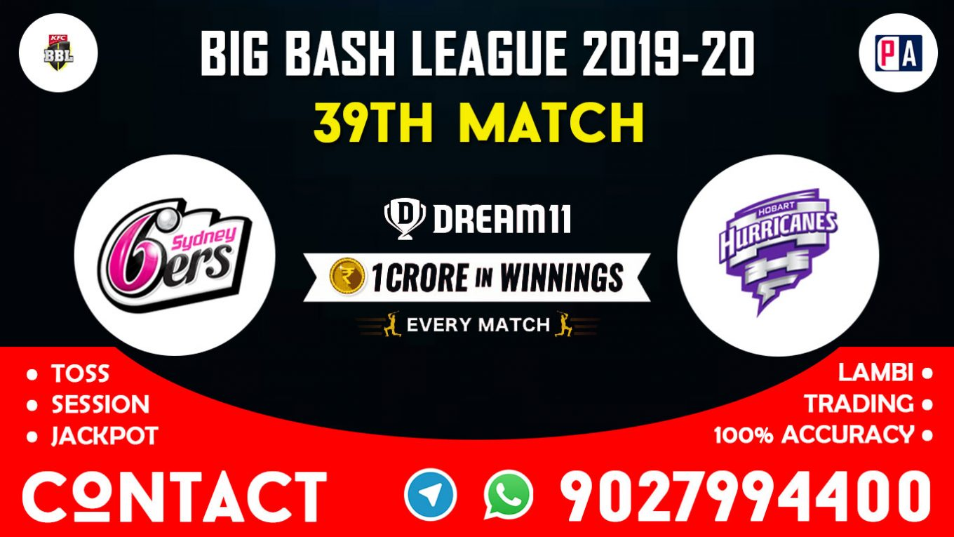 39th Match, SIX vs HUR, Dream11 Team Prediction