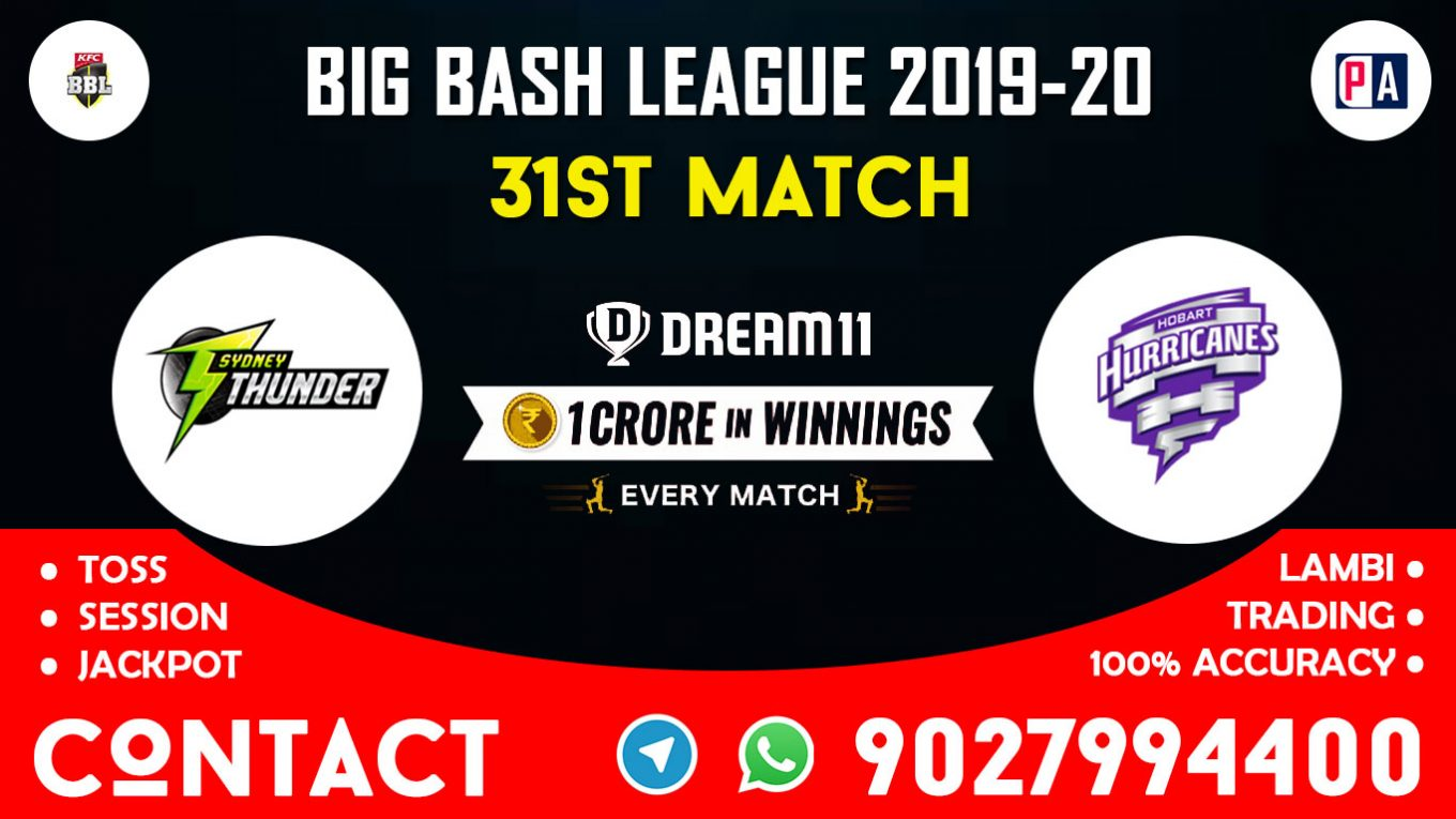 31st Match, THU vs HUR, Dream11 Team Prediction
