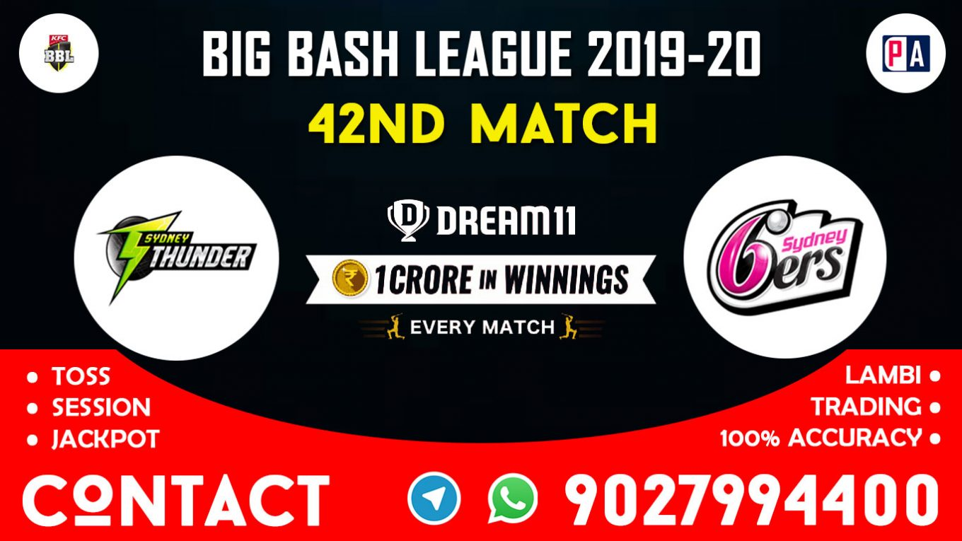 42nd Match, SIX vs THU, Dream11 Team Prediction
