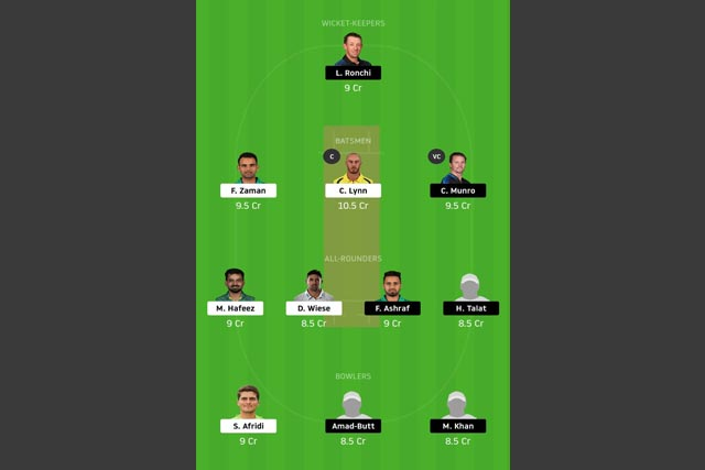 LAH vs ISL dream11 team