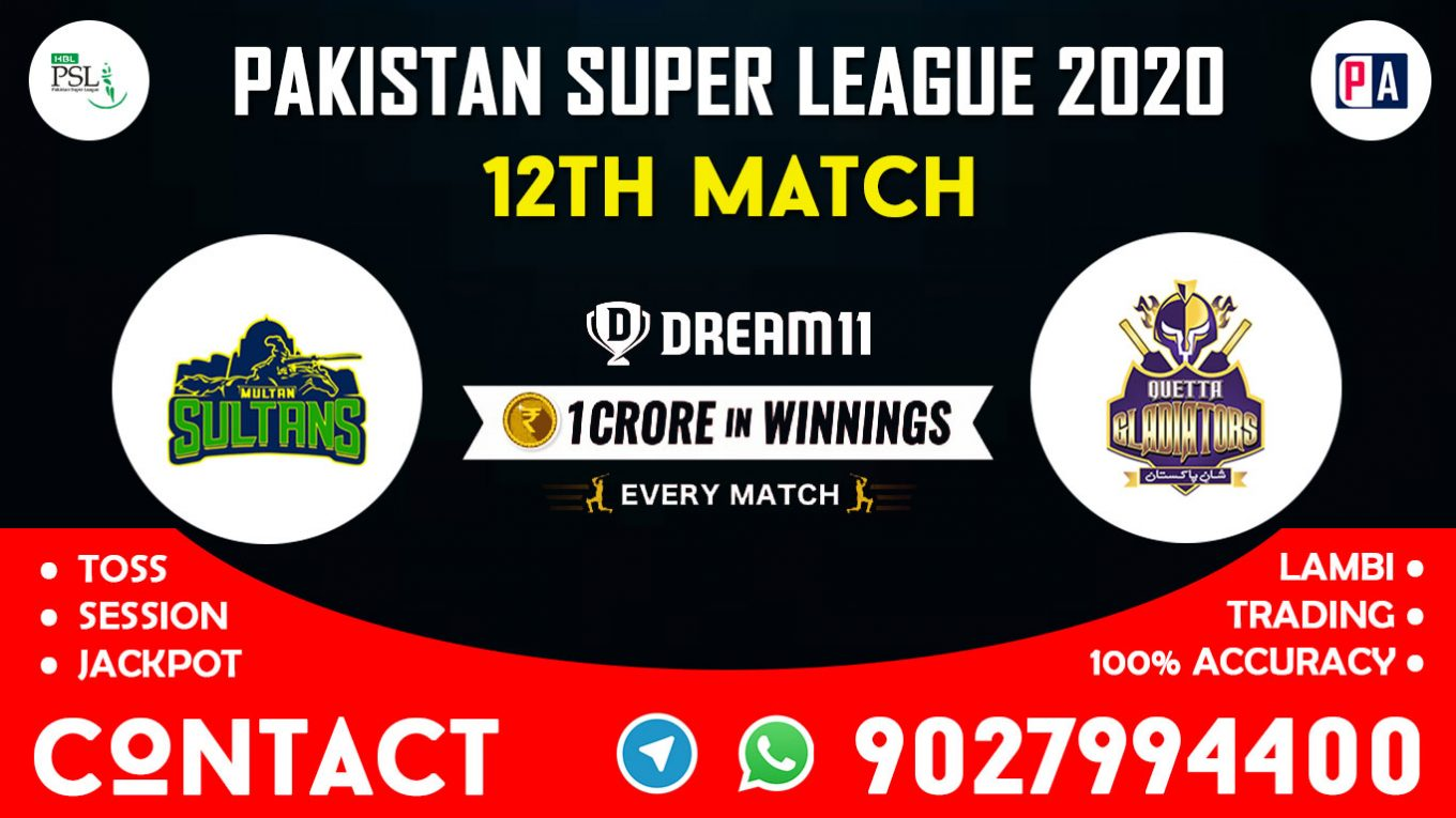 12th Match, MUL vs QUE, Dream11 Team Prediction
